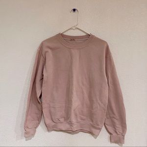 Brandy Melville Erica pink crewneck sweater